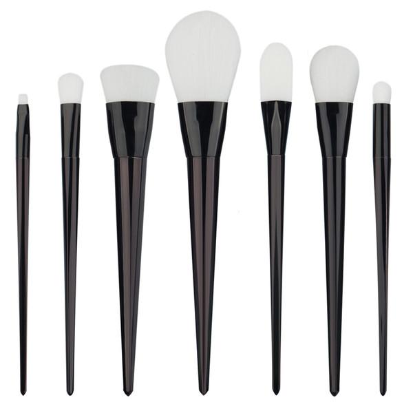 Pro 7Pcs/set Blending Pencil Makeup Brushes Set Black White Eye shadow Eyeliner Powder Foundation Blush Brush Tool