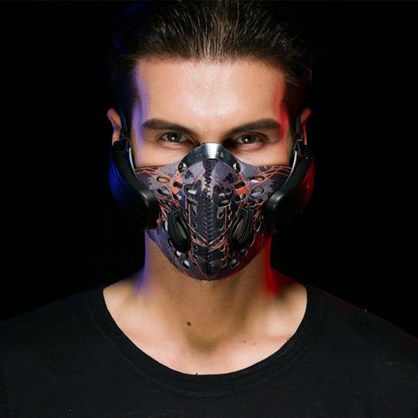 Anti-Fog-Dunst PM2.5 Musik Masken Knochenleitung drahtlose Bluetooth-Headset Weizen Sport fahren Smart Anruf Mikrofon
