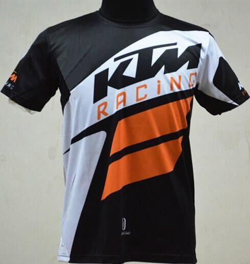 best selling 2017 High quality moto gp motorcycle shirt T-shirt KTM jersey shirt biker Breathable Quick-dry shirt road T-shirt biker