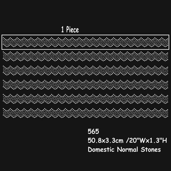 20Inches Nice Hotfix Rhinestone Heat Transfers Iron On Lace Design Sticker Color Can Be Choosen 30pcs/lot