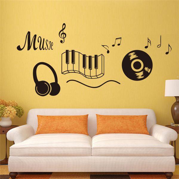 Handmade Creative Graphic Vinyl Wall Sticker Of Music For Kids Room ...