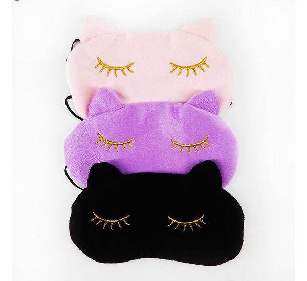 Cucommax Sevimli Kedi Uyku Göz Maskesi Şekerleme Karikatür Göz Gölge Uyku Maskesi Sleeping-MSK03 için Gözler Üzerinde Siyah Maske ...