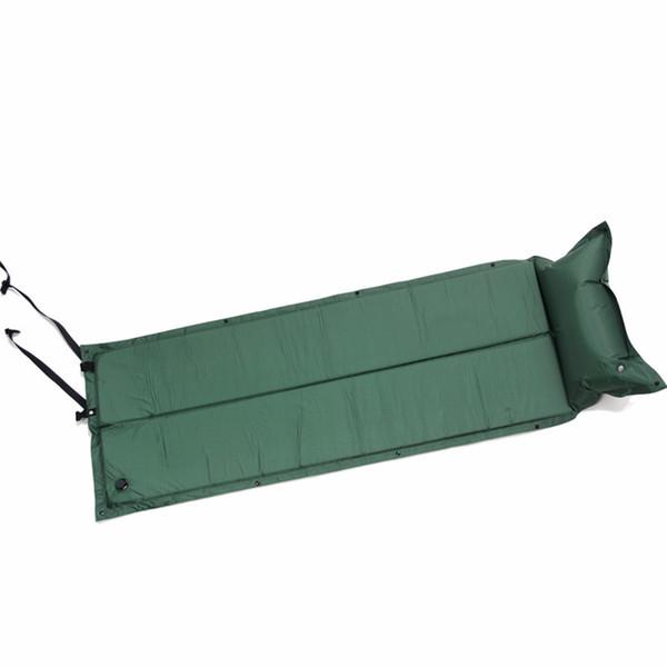 Atacado-Outdoor impermeável Dampproof Dormir Pad Air Mat colchão de acampamento automático inflável com travesseiro 183 * 60 * 2.5 cm