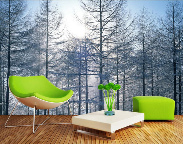 HD 3d Background Wall Decorative Paintings Pine Forest Landscape Living Nature Wallpapers Bedroom Extra Large Wall Murals