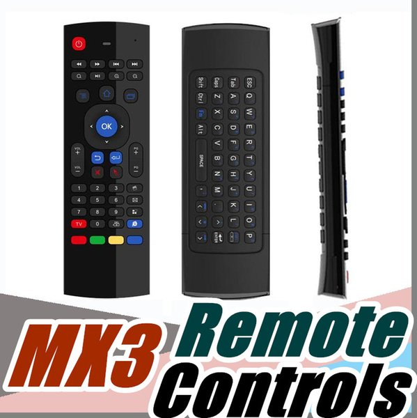 2.4G Wireless Remote Controls MX3 Fly Air Mouse Keyboard for Android TV box MXQ M8S Mini PC E-FS