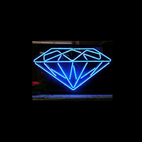 Nouvelle enseigne au néon DIAMOND tube de verre véritable bar salle de club à la main dans la salle de jeu murale