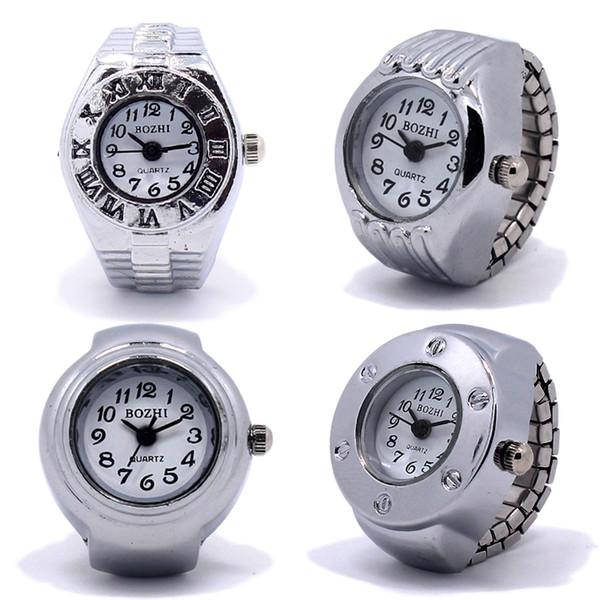 Fabrik Großverkauf 10pcs Uhr Heißer Verkauf neuer Finger-Ringuhr Gummiband Finger-Ring-Uhr Freies Verschiffen