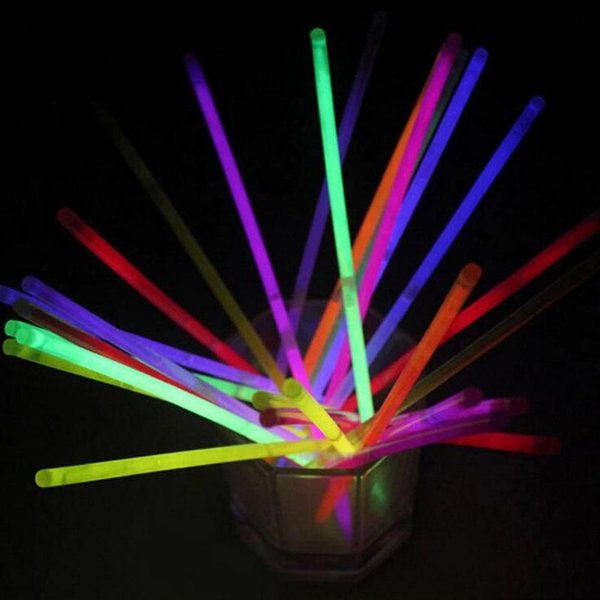 50pcs new fashion multicolor glow stick light party fun glow supplies dance party halloween decoration accessories - Glow Stick Halloween Decorations
