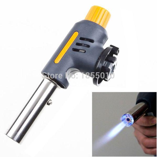 High Quality Portable Gas Jet Torch Flame Maker Gun Lighter Butane Weld Burner for Welding Camping Picnic Heating BBQ