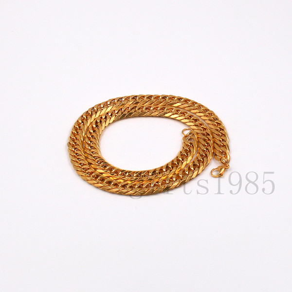 "SOLID 14K YELLOW GOLD FINISH 12mm 30"" STAINLESS STEEL MIAMI CUBAN LINK CHAIN FASHION JEWELRY GIFT SHIP FREE"