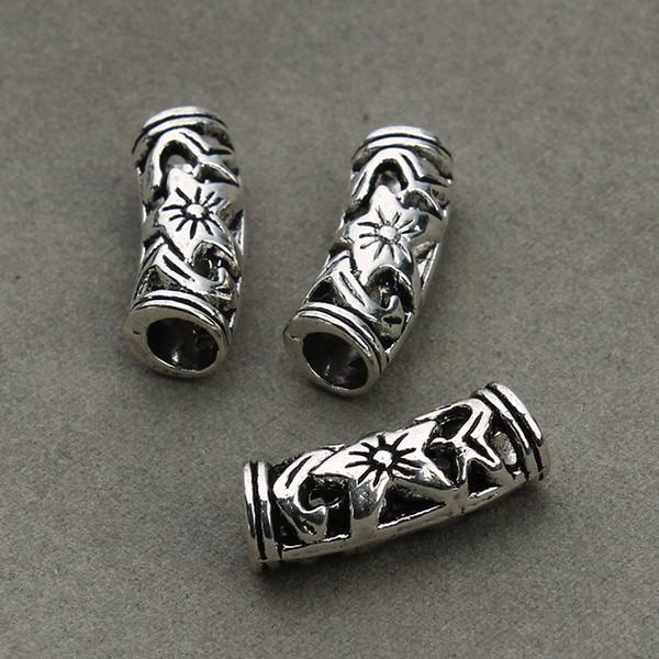 All'ingrosso-10pcs / lotto fiore cavo curvo distanziatore perline perline gioielli per gioielli artigianali F1012