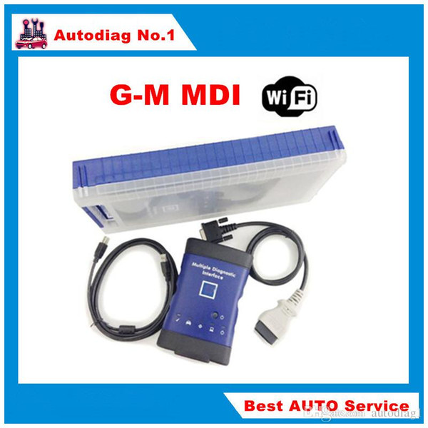 GM MDI with wireless wifi card with Plastic box auto diagnostic tool Multiple Diagnostic Interface OBD2 Scanner Free Shipping