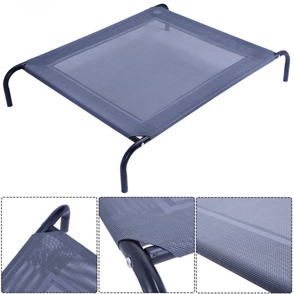 best selling New Large Dog Cat Bed Elevated Pet Cot Indoor Outdoor Camping Steel Frame Mat