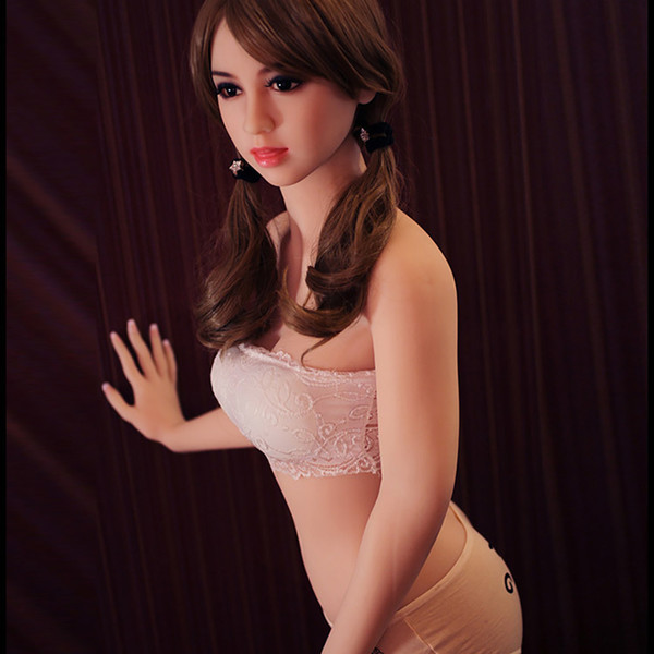 top popular New Sex Dolls 153 cm Flat Breast TPE Sex Dolls For Men Real Artificial Ass Pussy Top Quality 2021