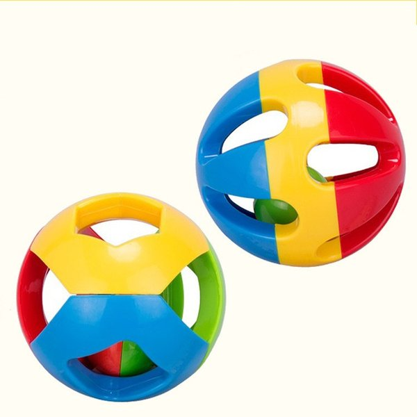 Loud Jingle Bell Puzzle Hand Ring Baby Education Toys Early Childhood Develop Baby Intelligence Training Grasping Ability 5 6hm H1