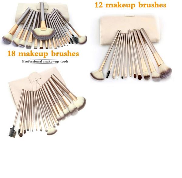 Spot de fábrica directo Champagne Gold 12 18 24pcs pinceles de maquillaje herramientas de maquillaje pinceles de maquillaje