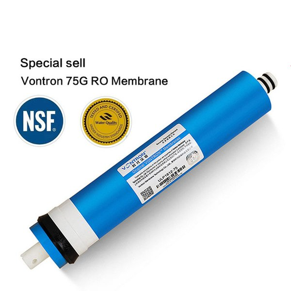 2017 Yeni Vontron 75 gpd RO Membran 5 aşamalı su filtresi arıtma arıtma ters osmoz sistemi için NSF sertifikalı / ANSI
