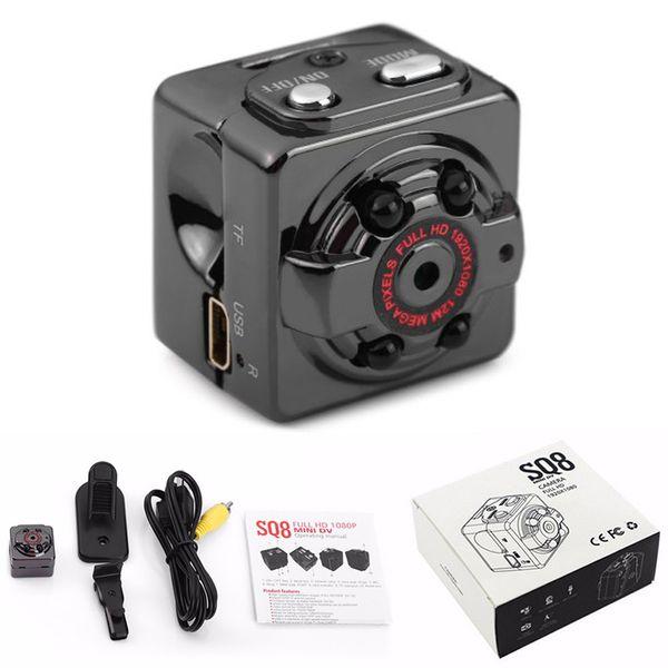 Wholesale-1080P HD 12MP Digital Mini Camera DVR Sports Infrared Night Vision Motion Detection Sensor Micro Camera SQ8 Camara espia