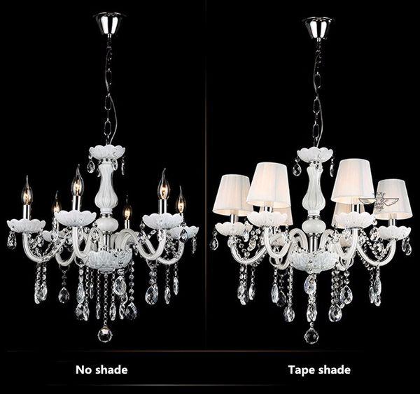 Modern white crystal chandeliers for livingroom bedroom indoor lamp modern white crystal chandeliers for livingroom bedroom indoor lamp k9 crystal lustres de teto ceiling chandelier aloadofball Gallery