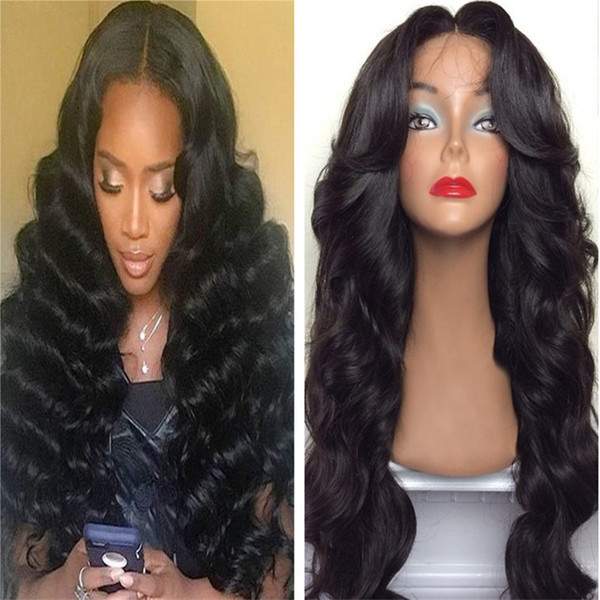 High Quality 20inch Loose Wave Front Lace Wig Virgin Peruvian Hair Full Lace Glueless Human Hair Wig Free Shipping