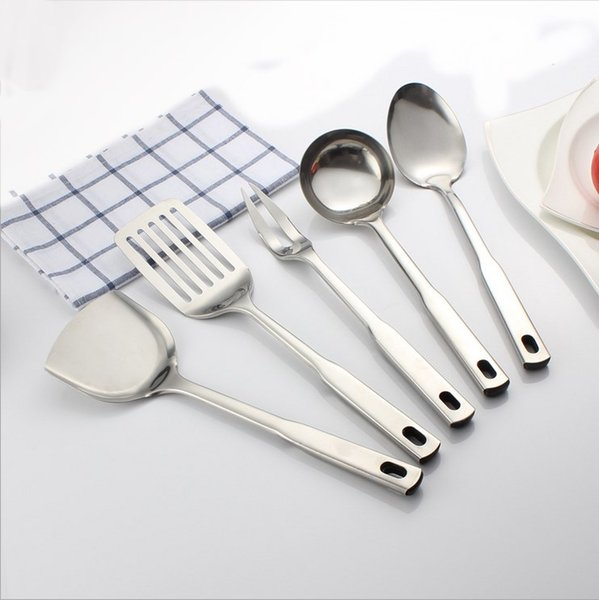 2019 Restaurant Kitchen Utensil Sets Stainless Steel Cooking Tools Sets  Meat Folk Spatula Fry Shovel Multifunction Accessories Free Ship From ...
