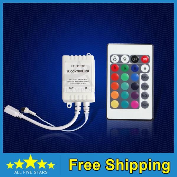 Ücretsiz Kargo DC12V 24 Tuşları IR Uzaktan Kumanda SMD3528 SMD5050 RGB LED Şerit işıklar için