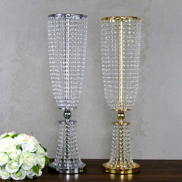 wholesale beautiful tall metal flower vase gold paited flower ...