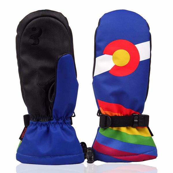 Waterproof Thermal Women Man Winter Ski Gloves Snowboard Snowmobile Motorcycle Outdoor Sports Gloves 6270946