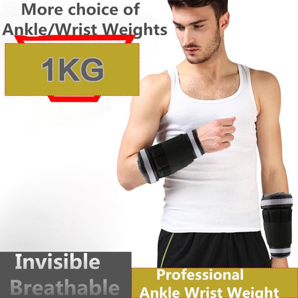 Großhandel- Knöchel- / Handgelenksgewichte (1 kg / Paar) für Frauen, Männer und Kinder - voll einstellbares Gewicht für Armbein - am besten zum Gehen, Joggen