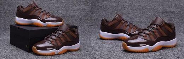 Nike Air Jordan Retro Shoes WholesaleAir 11 XI Low Schokoladenbraun Weiß Mann Frauen Leichtathletik Basketball Schuhe AA Hohe Qualität Größe USA 5,5 13 Sneaker