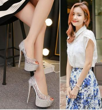 wholesaler free shipping factory price hots seller American and European style sexy high heel shoe peep toe platform lace sexy 136