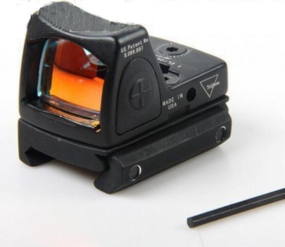 Promoción Trijicon RMR ajustable estilo punto rojo Sight Scope con proteger la cubierta de goma para la caza