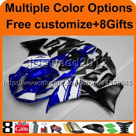8Gifts+ white blue YZFR1 2009 2010 2011 yzf-r1 ABS motorcycle cowl Fairing for Yamaha