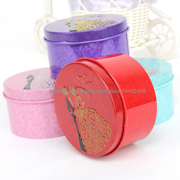 200pcs Round Shape Metal Tin Material Bride Groom Candy Box Wedding Favor Gift Favours Wedding Party Free Shipping