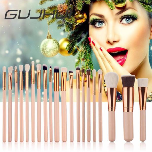 20 Piece Big Eye Makeup Brushes Set Eyeshadow Blending Brush Powder Foundation Eyebrow Lip Eyeliner Cosmetic Brush Tools #228763