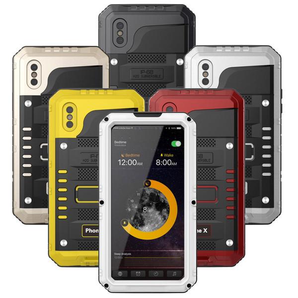 Case for Iphone 7 SE 4S 5 5C 5S 6 6S Plus Luxury Doom Armor Dirt Shock Waterproof Metal Aluminum Cell Phone Case Cover
