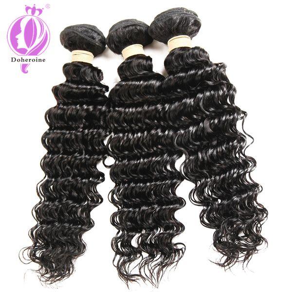 Capelli brasiliani dell'onda profonda brasiliana dell'onda profonda brasiliana dei capelli dell'onda profonda 100% brasiliana dei capelli dell'onda profonda