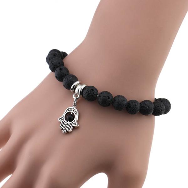 Braccialetto di pietra naturale alla moda vulcanica lava rock ciondolo braccialetto braccialetto di perle di perline diffusore gioielli regalo di natale 12 stile dhl libero h792f