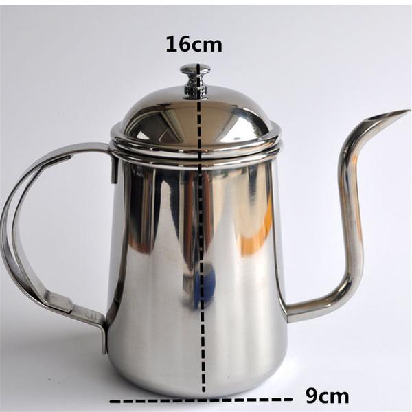 700 мл высокого качества из нержавеющей стали тонкой рот горшок / творческий чайник кофе перколятор и чайник кухонные инструменты
