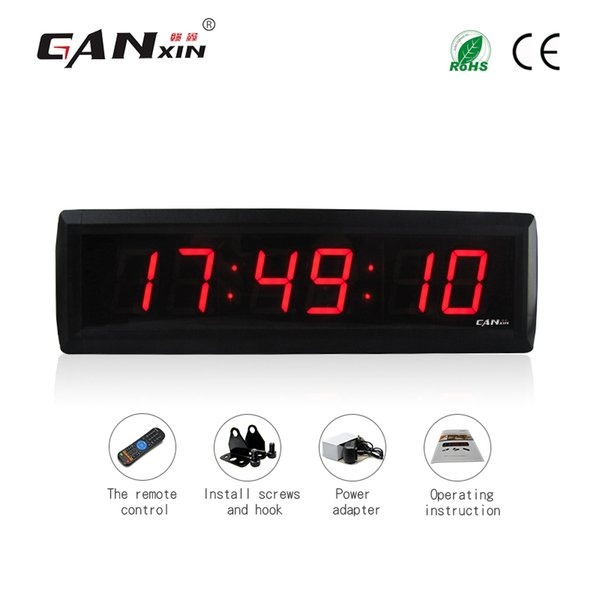 best selling [GANXIN]Varieties Color Optional 1.8 inch 6 Digits LED Display Digital Clock of Conference Room and Living Room with Remote Control