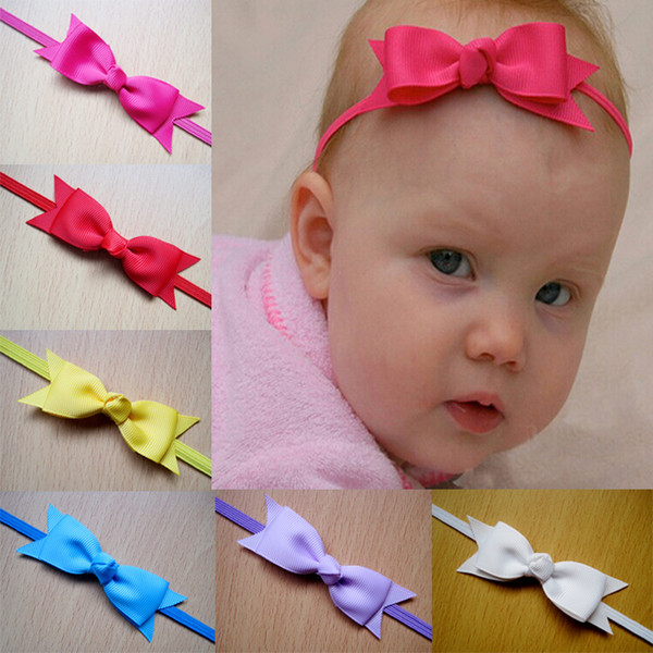 Christmas Infant Baby Bowknot Headbands Kids Nylon Hairband Fabric Bows Headwear Hot Sale For Baby Hair Accessories 12 Color 12 pcs