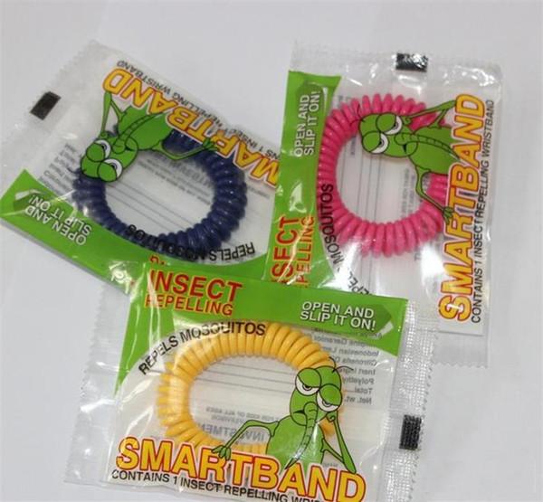 New Mückenschutz Armband Stretchable Elastic Coil Spiral Handgelenk Band Telefon Ring Kette Anti-Mücken-Armband I010