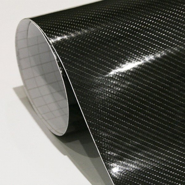 Car Styling 152cm*30cm High Gloss 5D Black Carbon Fiber Vinyl Film Carbon Fibre Car Wrap Sheet Roll Film tools Car Sticker Decal