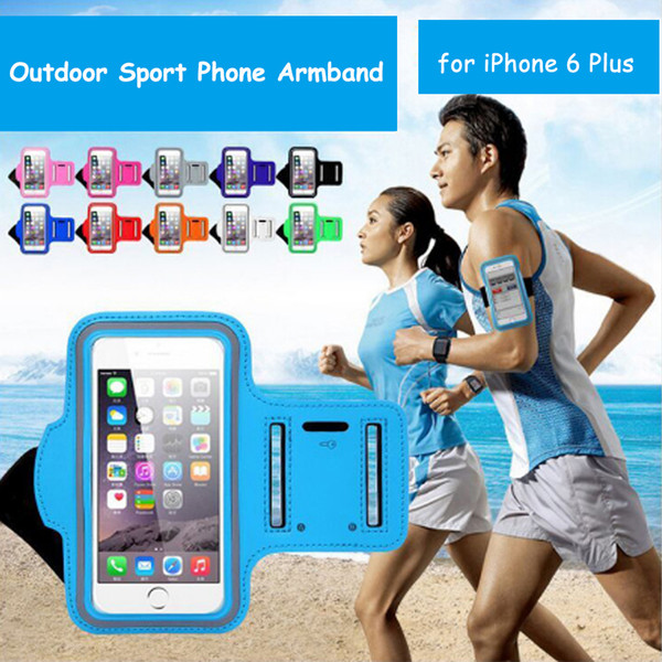 5.5 inch Universal Phone Runner Jogging Outdoor Sports Armband Bag Wallet Pouch Cell Phone Cover Case for iPhone 7 Plus 8 Plus
