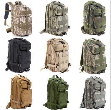 30L Hiking Camping Bag Army Military Tactical Trekking Rucksack Outdoor Sports Camouflage Bag Military Tactical Backpack CCA6085 50pcs