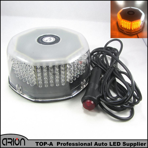 30W 240 LED Amber White Car Police Fireman Strobe Flash Light Dash Emergency Warning Flashing Fog Lights Lamp