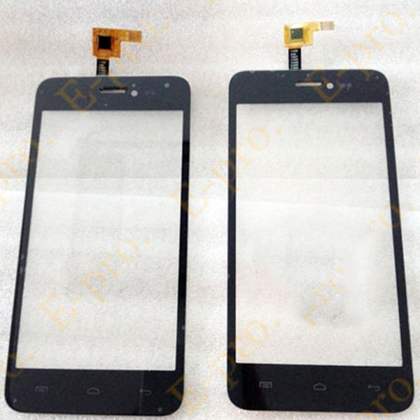 Wholesale- New Touch Screen Digitizer For Explay Craft Touchscreen Sensor Panel Front Glass Lens Black Color+3M Sticker