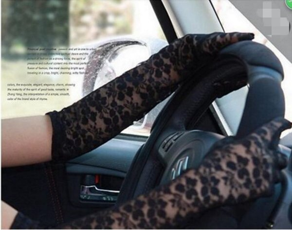 Long Ladies Driving Gloves 43cm UV Sunscreen Summer Thin Fashion Elbow Gloves Driving Gloves for Women