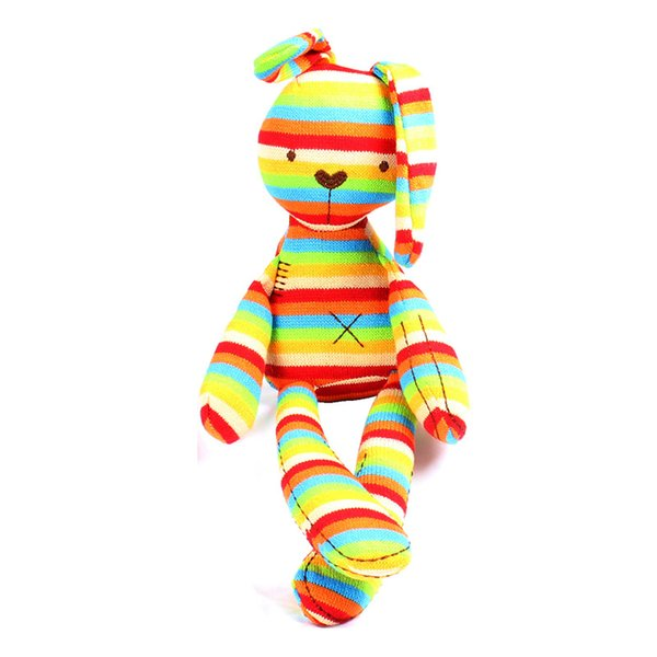 Wholesale- Baby Soft Rabbit Doll 40cm Large Rabbit Sleep Rattles Comfort Children's Cute Animal Plush Toys 0-5Year Baby Toys -- BYC066 PT49