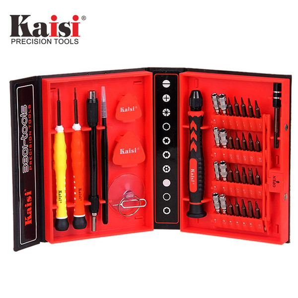 Kaisi Precision 38 in 1 Screwdriver Set Of S2 Chrome Vanadium Steel Disassemble Household Tools for Phone iPhone ipad mac